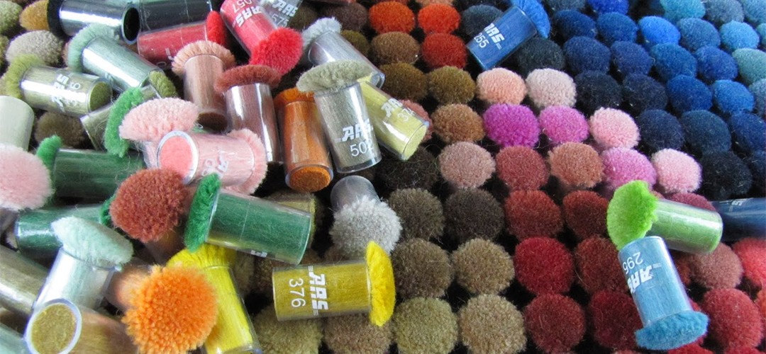 Custom Rug Colours ARS wool colour poms
