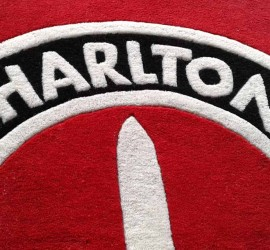 Charlton Athletic Custom Logo Rug Close Up