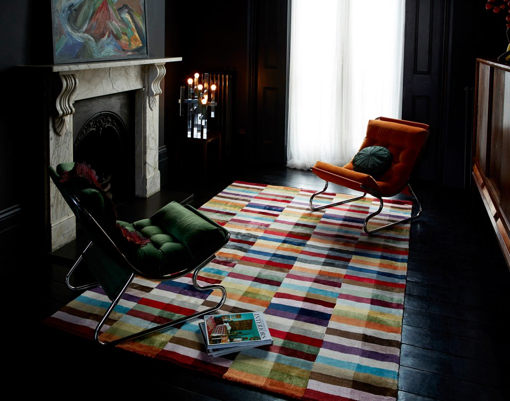 Deco Multi rug in a sitting room