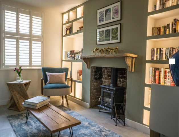 Soft tones and on trend blues combine in this relaxed Hygge inspired interior by Ruby Red Interiors