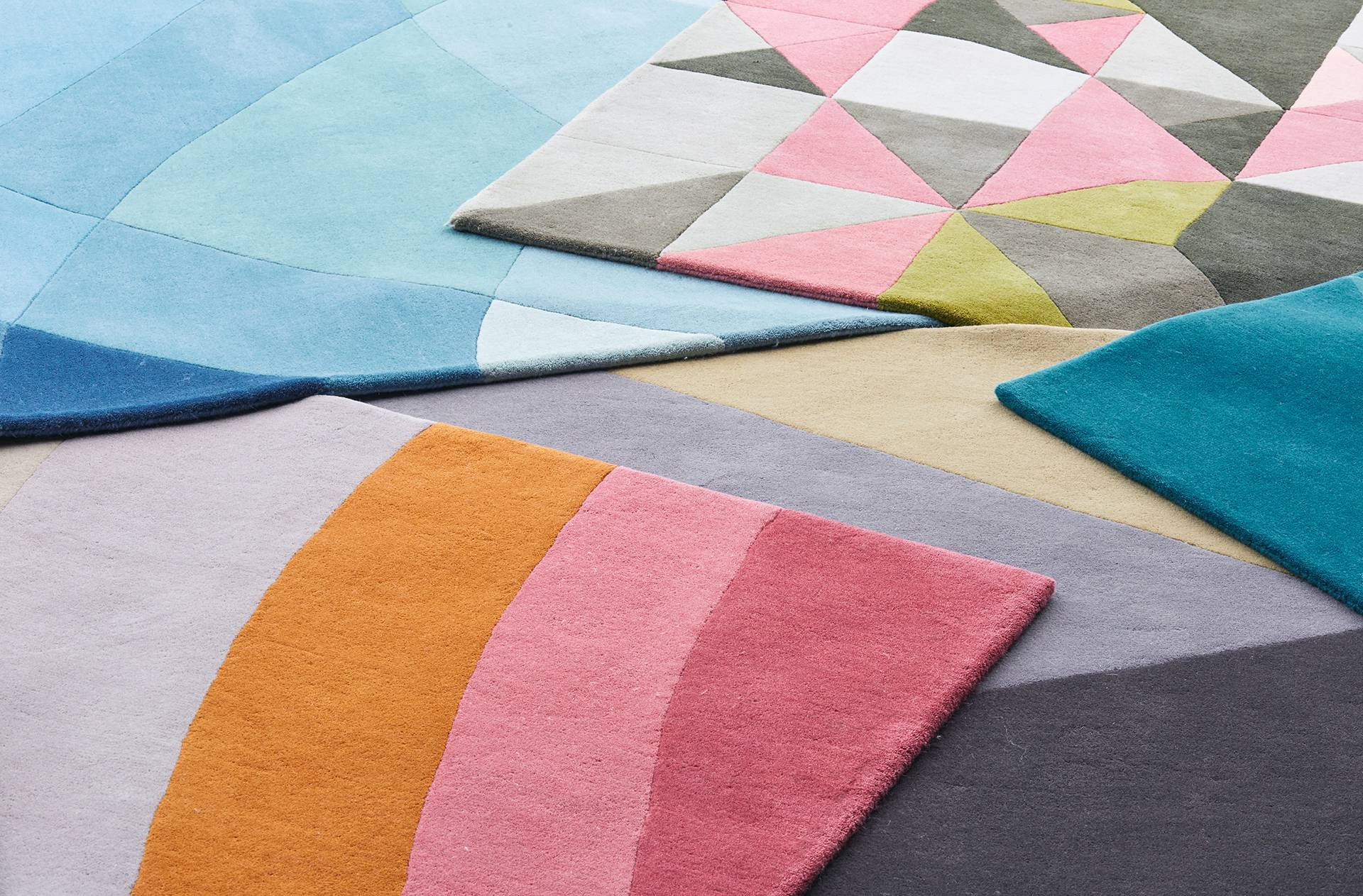 Claire Gaudion Tufred Geometric Seascape Rugs