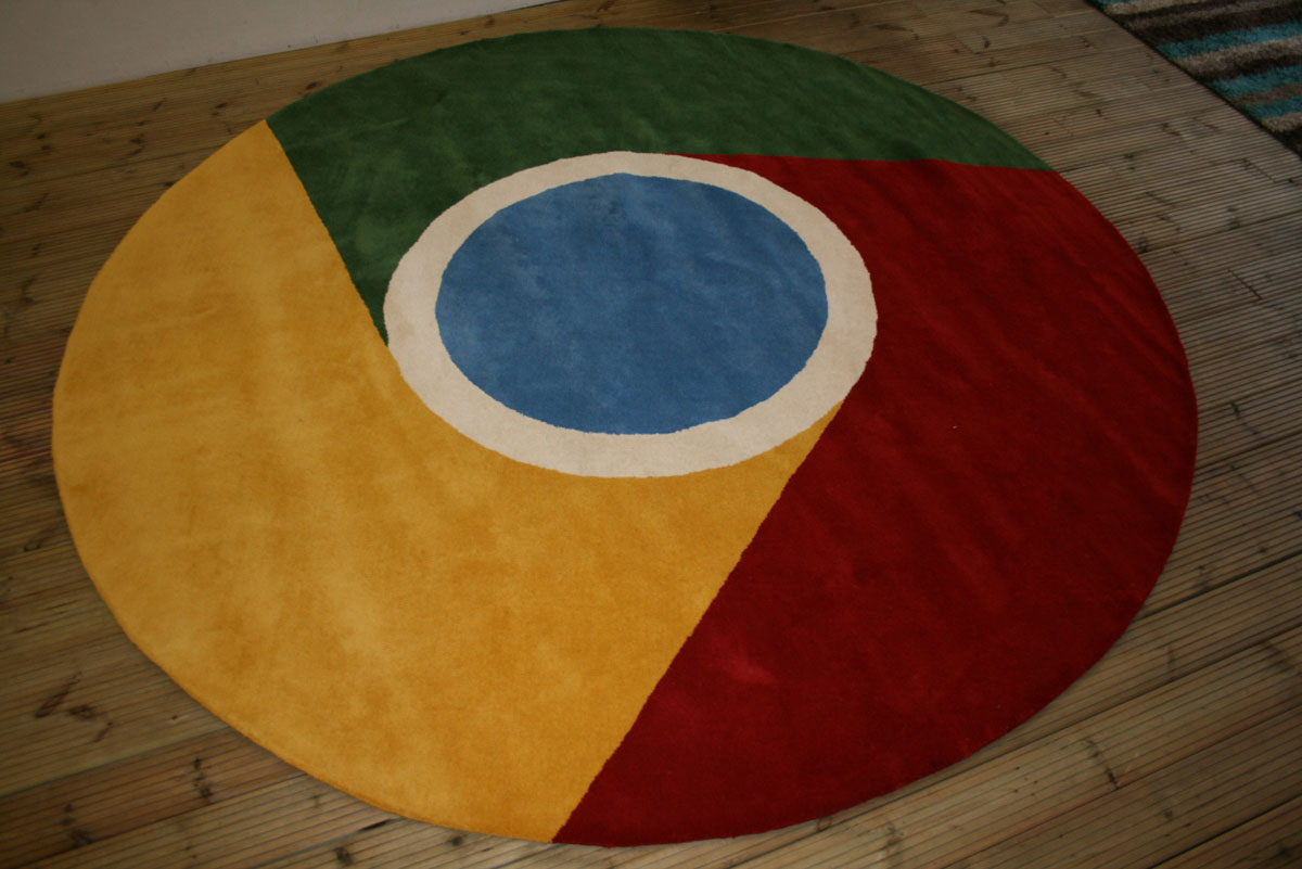 Google Chrome Logo Rug on Floor