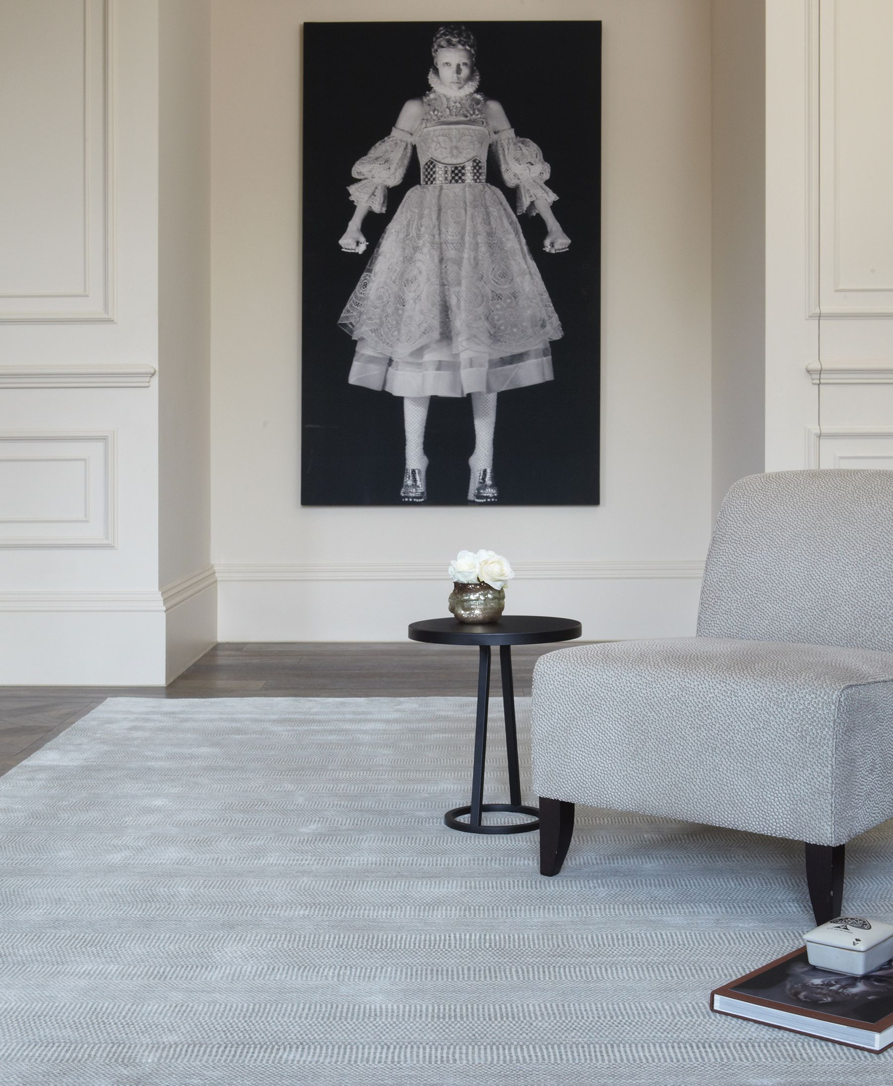 Darcy Silver Rug Katherine Carnaby