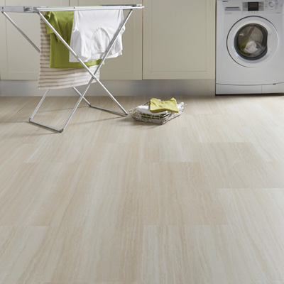 Lifestyle Floors Galleria Smooth Marble LVT flooring in kitchen