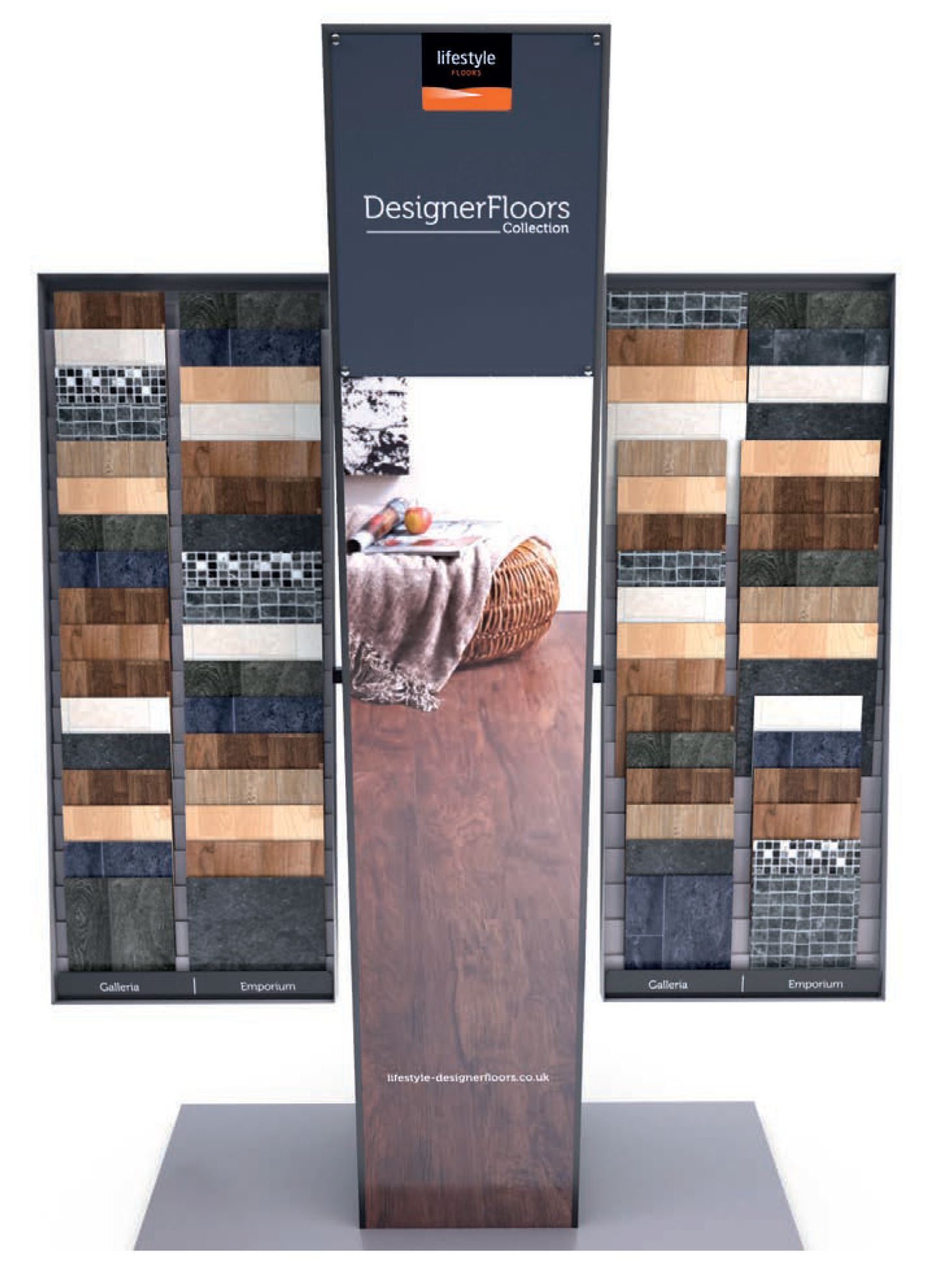 Lifestyle Floors luxury vinyl tile display stand