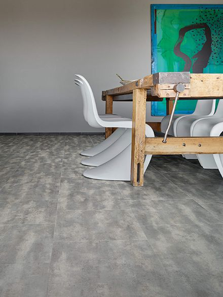 Moduleo Transform Concrete 40945 in restaurant roomset