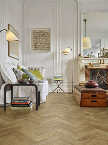 Moduleo Transform Country Oak 24432 using Herringbone design in roomset