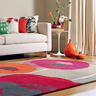 Sanderson Poppies Red/Orange 45700 Rug