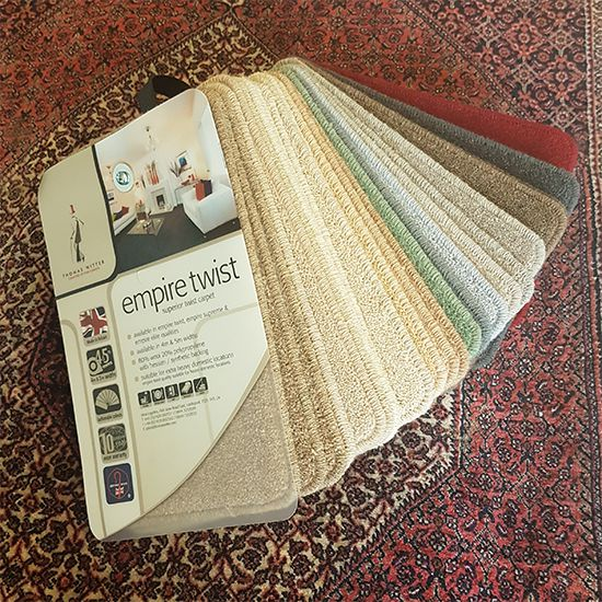 Thomas Witter Empire Twist carpet samples