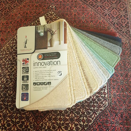 Thomas Witter Innovation carpet samples