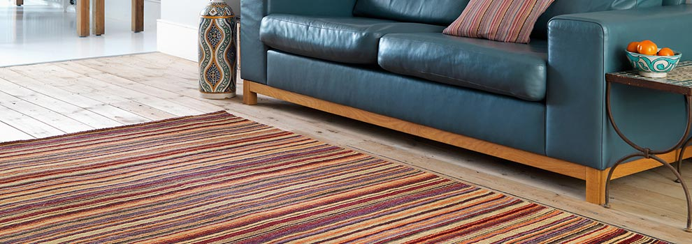jospeh loom-knotted striped rug