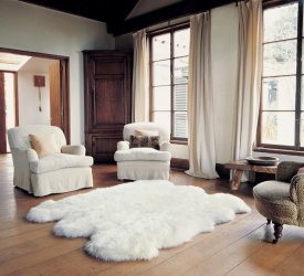 Bowron Sheepskins Longwool Six Piece Ivory