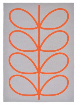 Orla Kiely Giant Linear Stem Outdoor Persimmon 460703