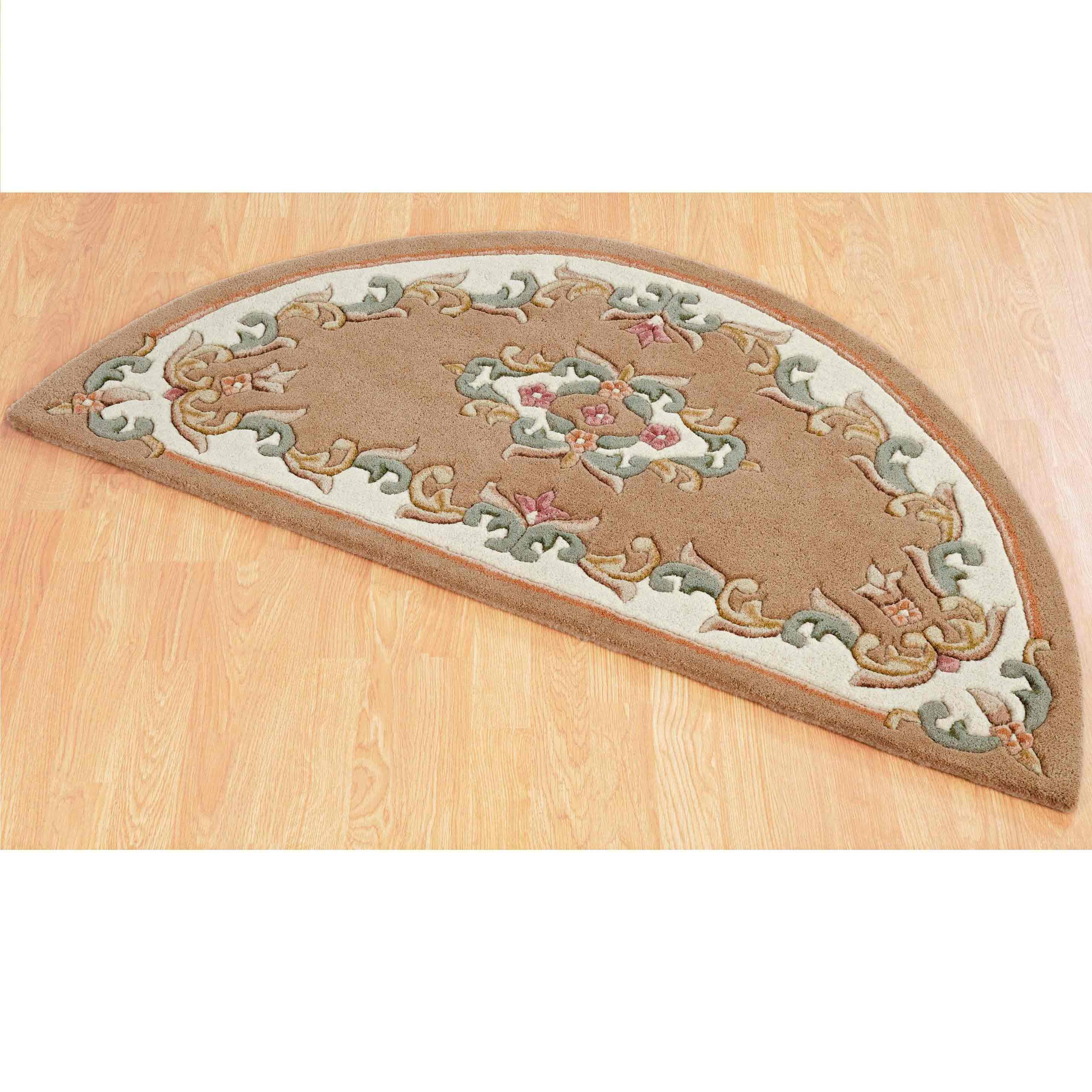 Royal Beige Half Moon Rug