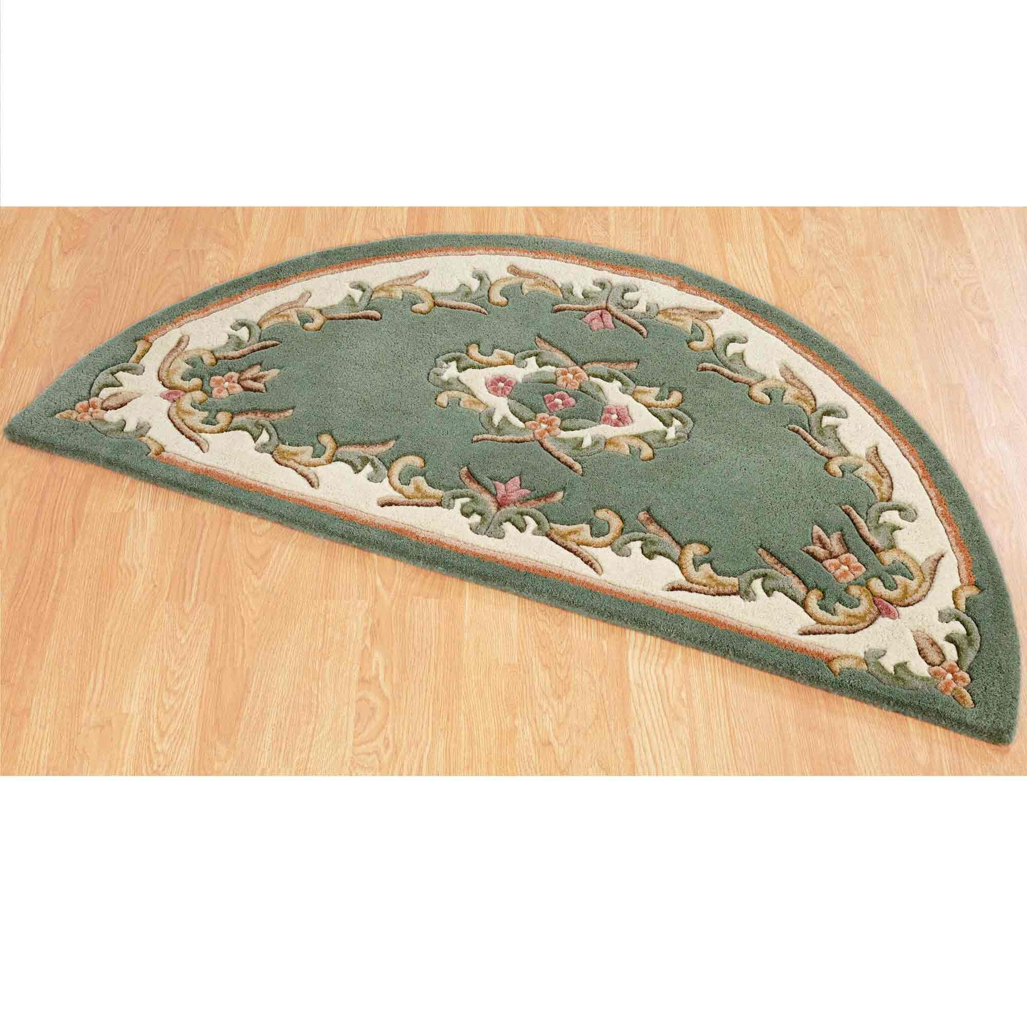 Royal Green Half Moon Rug