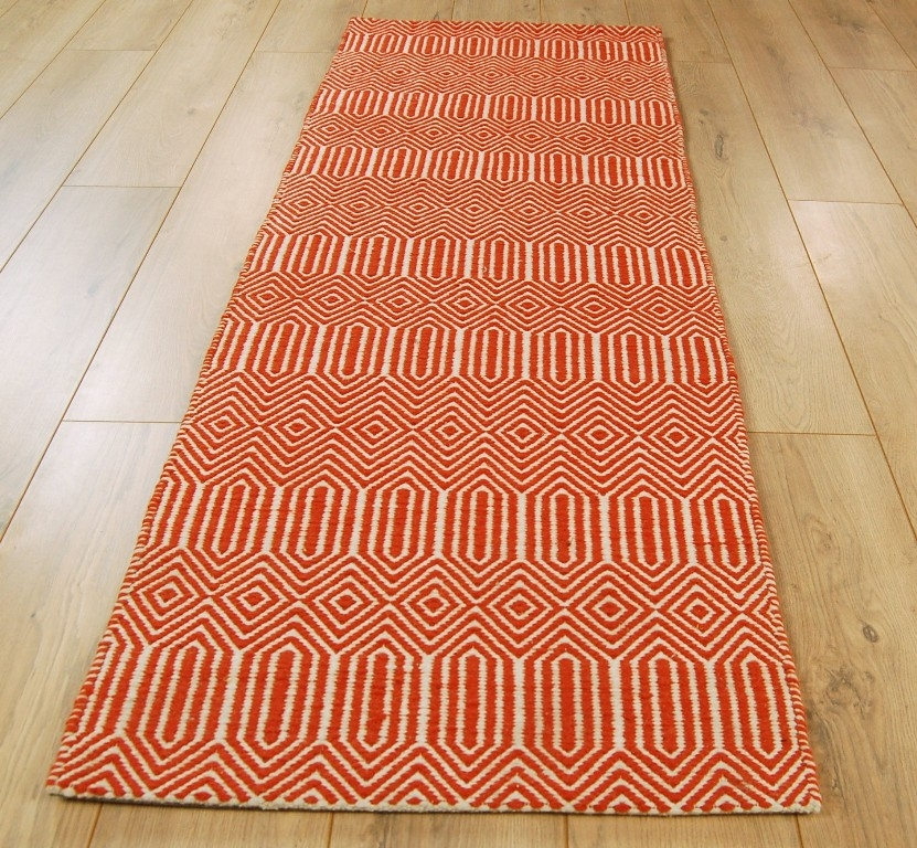 Rug Runner Rug: Sloan Orange Runner Rug