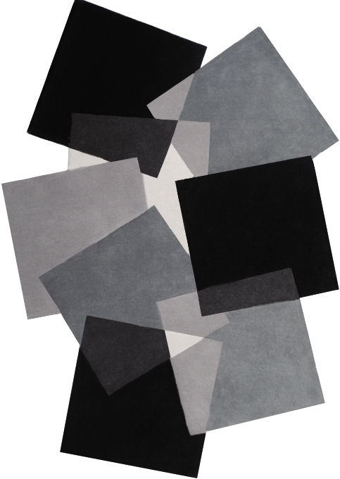 Angelo Pebbles Black and White 9718-500 Rug