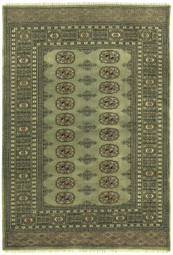 Hand-knotted Bokhara Green