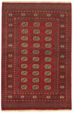 Hand-knotted Bokhara Red