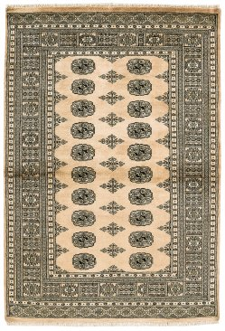Hand-knotted Bokhara Beige