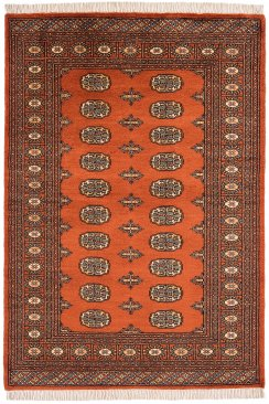 Hand-knotted Bokhara Rust
