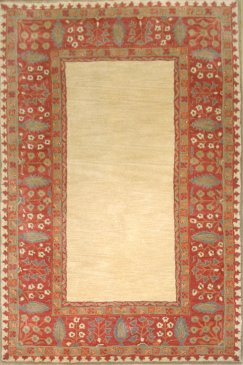 Wool Forest Border Rug