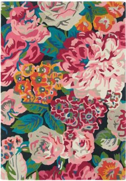 Wool Rose and Peony  Rug