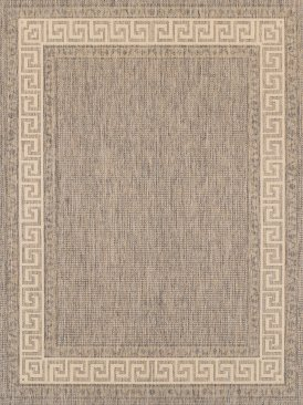 Polypropylene Greek Key Rug