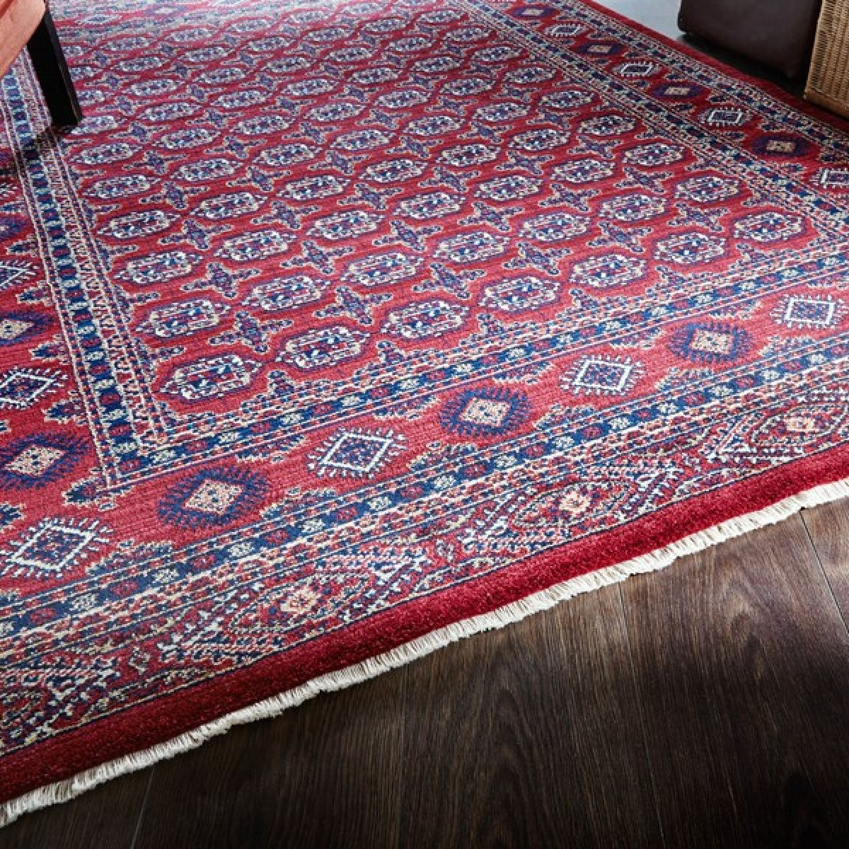 Pakistan Bokhara Rugs In Red: Persia Astara Red Bokhara Rug