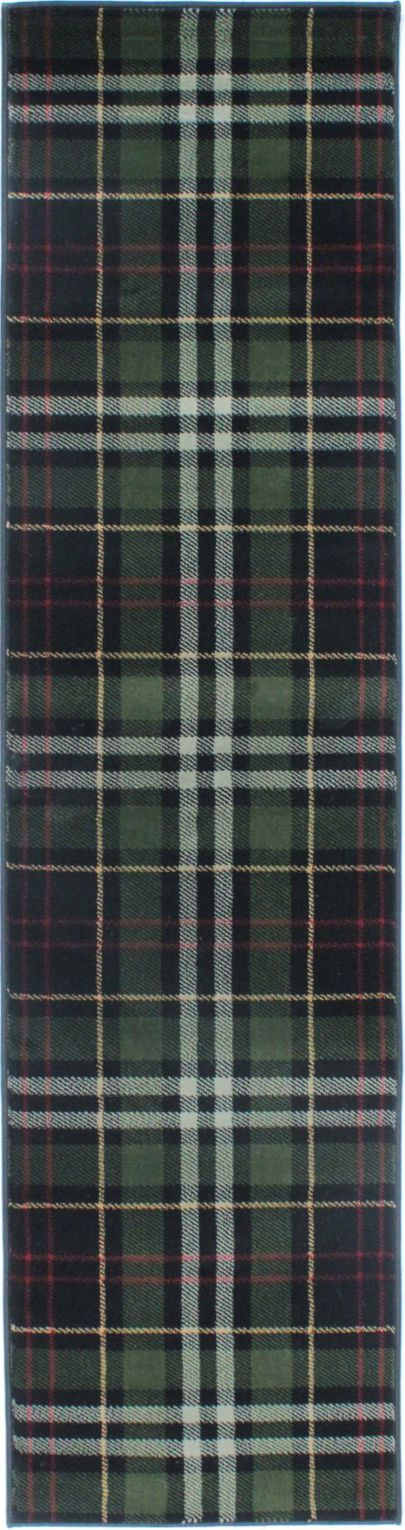 Glen Kilry Black Runner Rug
