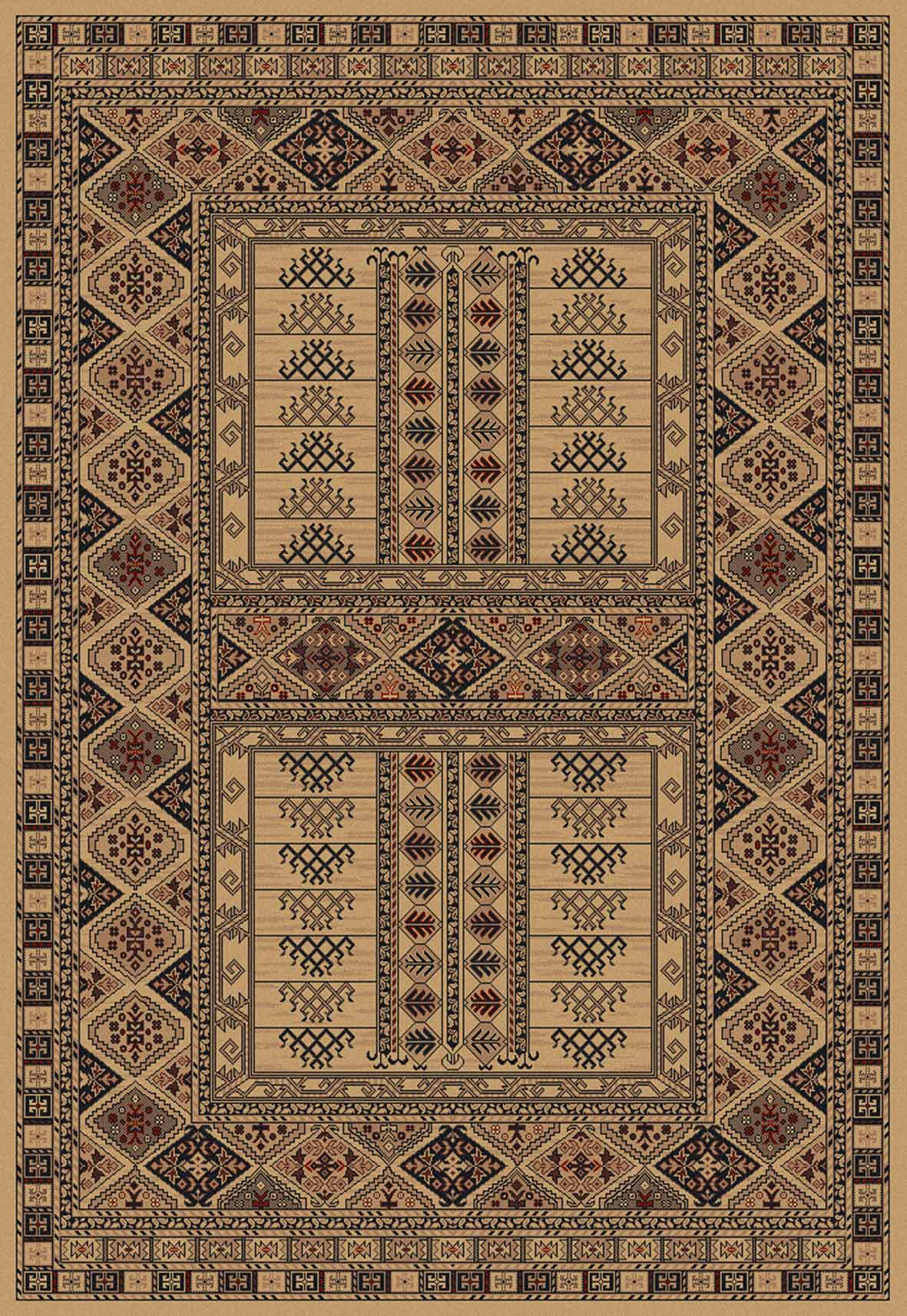 afghan 5938 41 beige rug. Black Bedroom Furniture Sets. Home Design Ideas