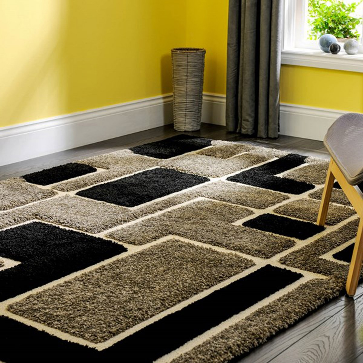 Venice Imperial Grey Black Rug