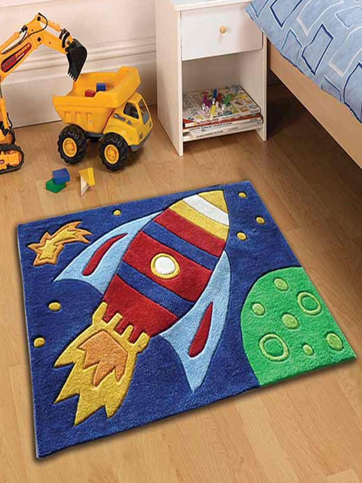 Kids Flair Kids Rocket Multi Rug