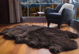 Bowron Sheepskins Longwool Four Piece Dark Brown