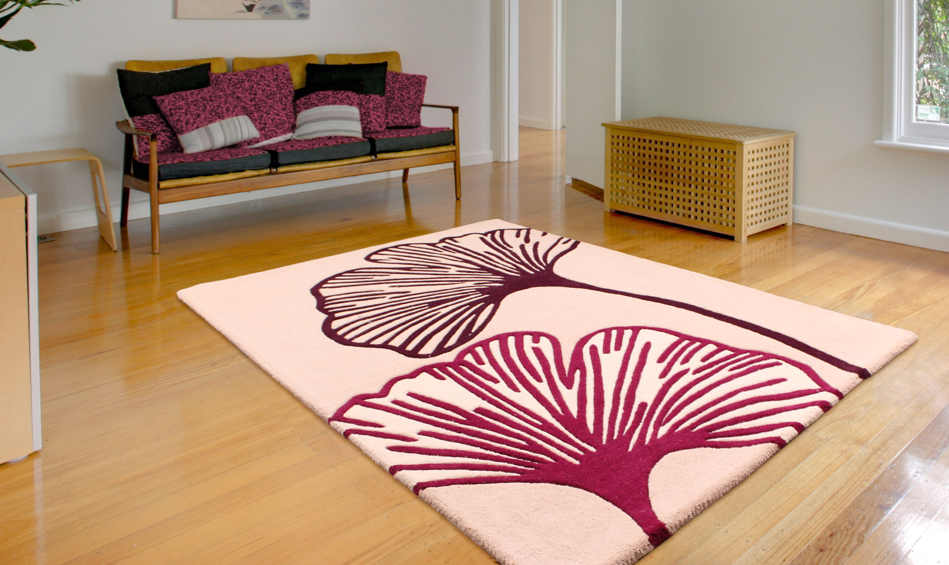 Floral Art Gem Purple Rug
