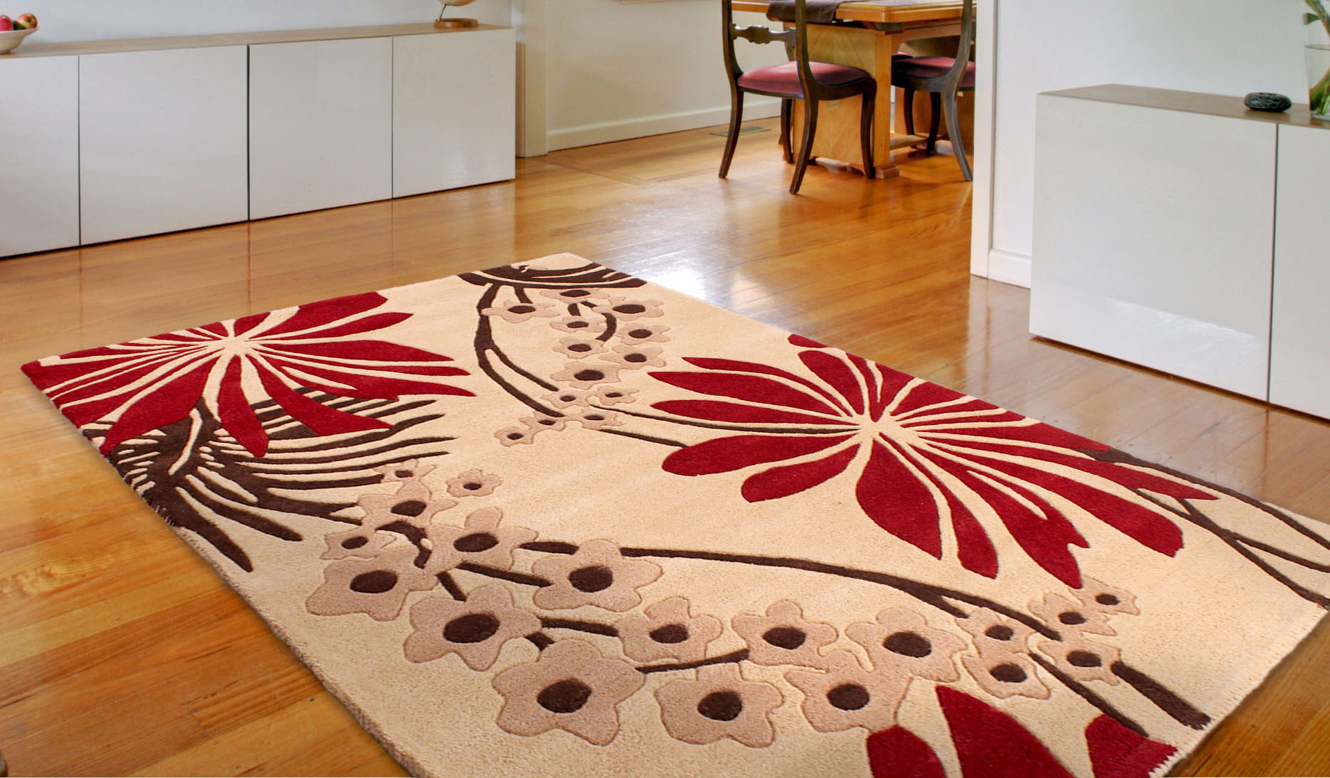 Floral Art Ohelo Red Rug