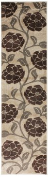 Hand Carved Vine - Beige Brown Runner