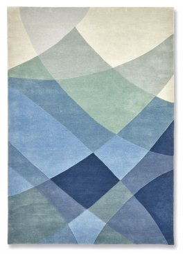 Wool Geometric Seascapes Rug