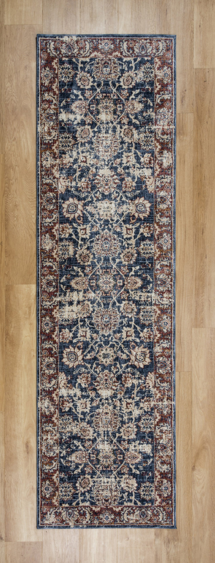 Alhambra 6549A Dark Blue Runner Rug