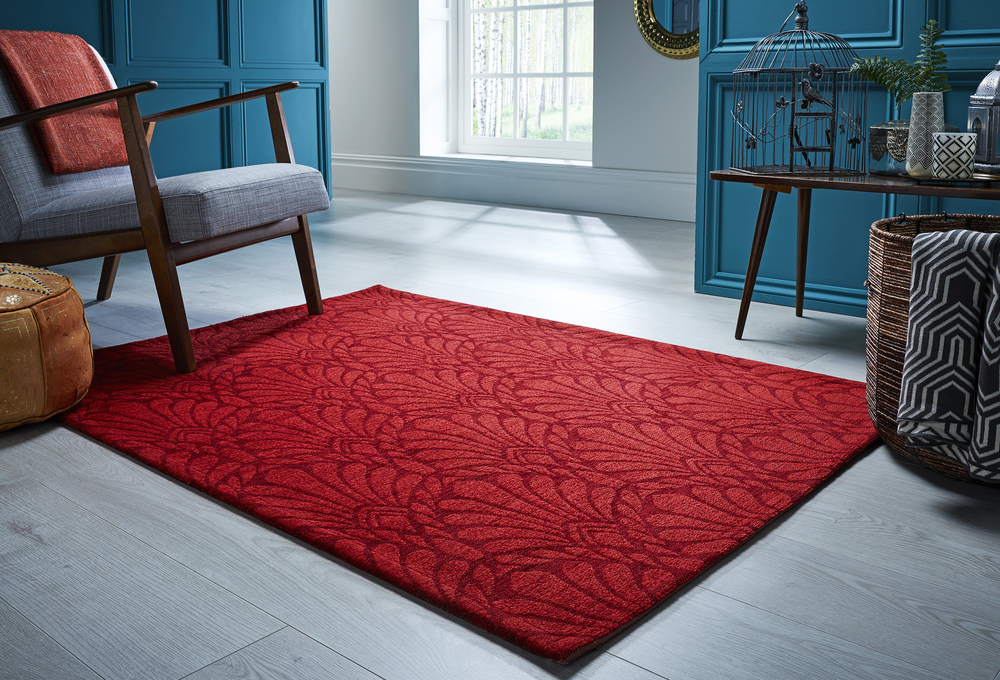V&A Collection Rhapsody Rug in Red