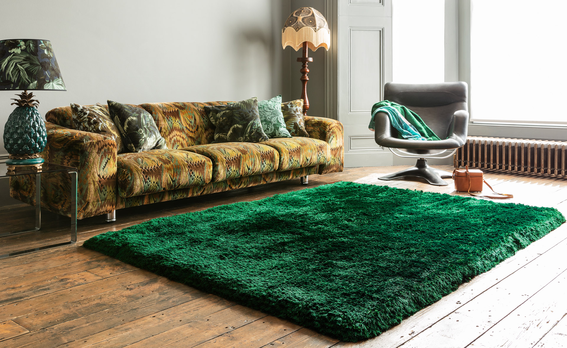 Picture of: Plush Emerald Rug