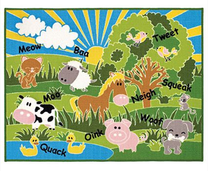 Kids Playtime Animals Rug