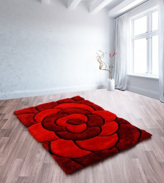 Polyester 3D Carved Rug