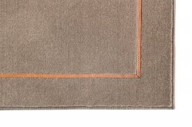 Wool Richelieu Velours Leather Rug