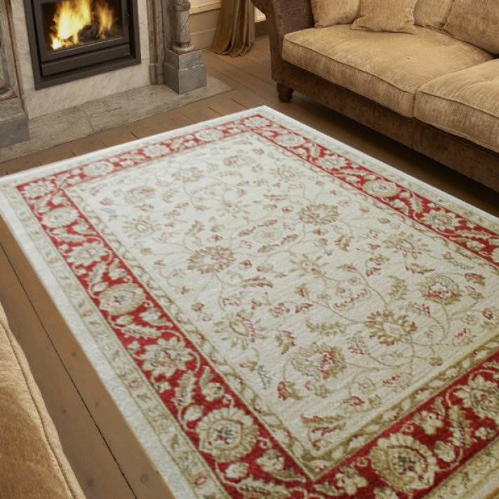 Ziegler cream and red rug for Cream and red rugs