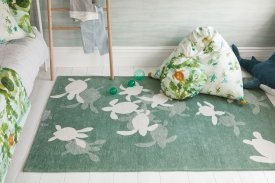 Cotton Tiny Turtles Rug