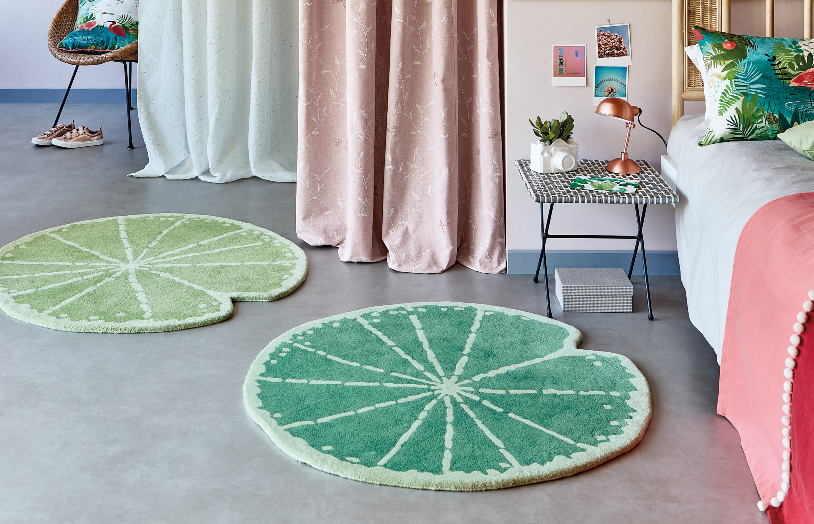 Villa Nova Lily Pad kids rugs in two shades of green