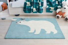 Viscose Artic Bear Rug